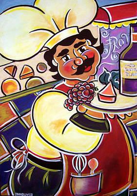 Franco's Cheese Shop Art Print