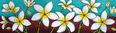 Painting - Frangipani Delight by Lisa  Lorenz