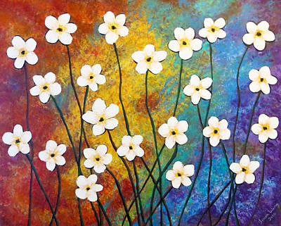 Painting - Frangipani Explosion by Teresa Wing