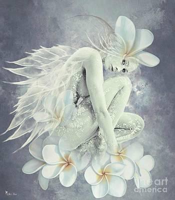 Digital Art - Frangipani Fairy by Ali Oppy