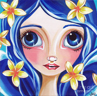 Pop Surrealism Painting - Frangipani Fairy by Jaz Higgins