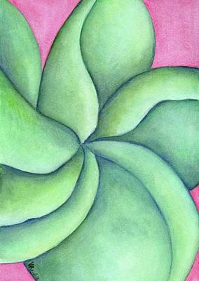 Painting - Frangipani Green by Versel Reid