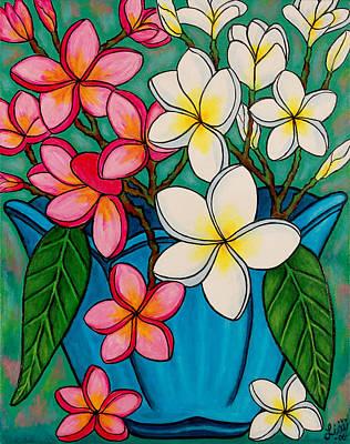 Frangipani Sawadee Art Print by Lisa  Lorenz