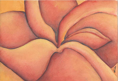 Painting - Frangipani by Versel Reid