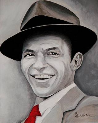 Rat Pack Painting - Frank  by Al  Molina