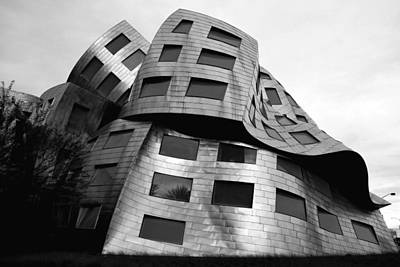 Photograph - Frank Gehry's Lou Ruvo Center 8 Black And White by Matt Harang