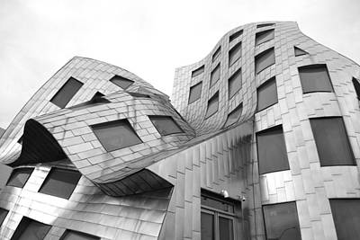 Photograph - Frank Gehry's Lou Ruvo Center Black And White by Matt Harang