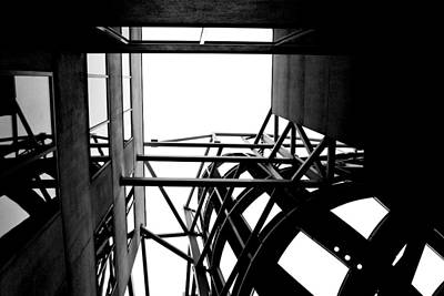 Photograph - Frank Gehry's Lou Ruvo Center Spiral Black And White 2 by Matt Harang