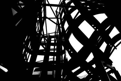 Photograph - Frank Gehry's Lou Ruvo Center Spiral Black And White by Matt Harang