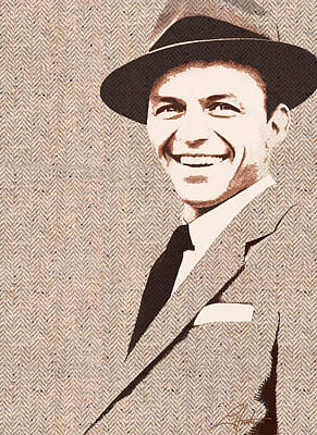 Digital Art - Frank In Tweed by Larry Hunter