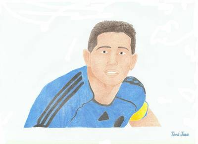 Drawing - Frank Lampard by Toni Jaso