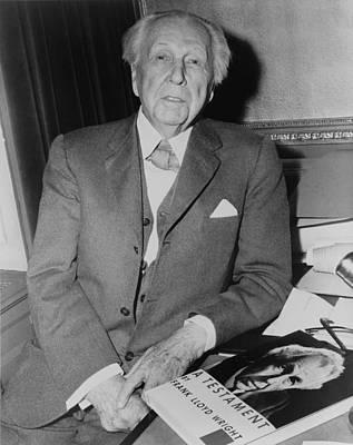 Bsloc Photograph - Frank Lloyd Wright 1867-1959, American by Everett