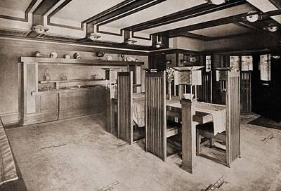Frank Lloyd Wright Designed Custom Art Print by Everett