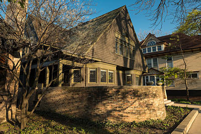 Wright Photograph - Frank Lloyd Wright Home And Studio by Steve Gadomski