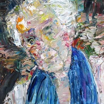 Frank Lloyd Wright Painting - Frank Lloyd Wright - Oil Portrait by Fabrizio Cassetta