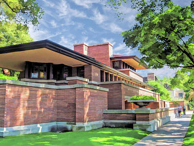 Hyde Park Painting - Frank Lloyd Wright Robie House by Christopher Arndt