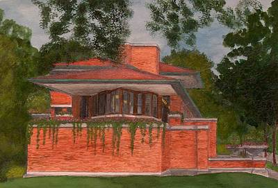 Frank Lloyd Wright Painting - Frank Lloyd Wright Robie House by Jacob Stempky