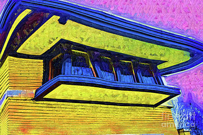 Digital Art - Frank Lloyd Wright Windows by Kirt Tisdale