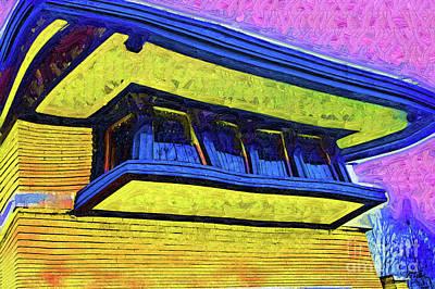 Digital Art - Frank Lloyd Wright Windows by Kirt Tisdale
