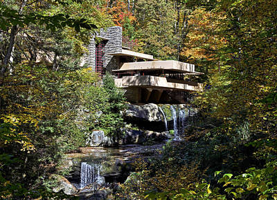 Waterfall Photograph - Frank Lloyd Wrights Fallingwater by Brendan Reals
