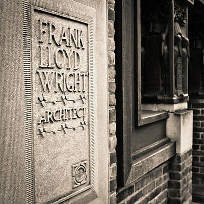 Tryptych Photograph - Frank Lloyd Wright's Studio by Niels Nielsen
