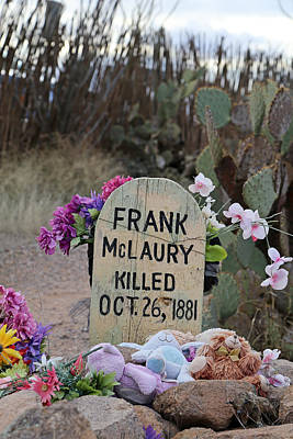 Photograph - Frank Mclaury Boot Hill by Mary Bedy