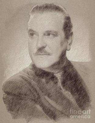 Wizard Drawing - Frank Morgan, Actor by Frank Falcon
