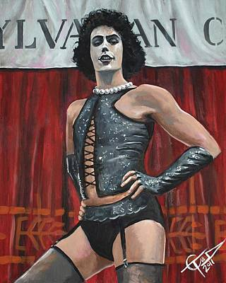 Tim Curry Painting - Frank-n-furter by Tom Carlton