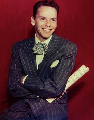 Digital Art - Frank Sinatra 15 by Frank Sinatra
