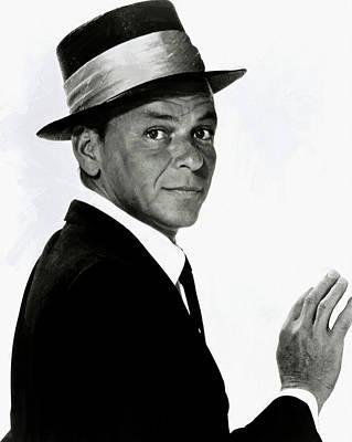 Digital Art - Frank Sinatra 21 by Frank Sinatra