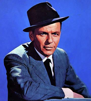 Digital Art - Frank Sinatra 24 by Frank Sinatra