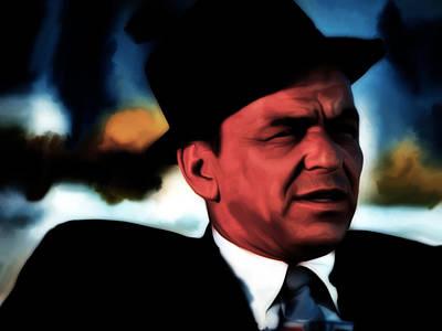 High Society Mixed Media - Frank Sinatra 2b  by Brian Reaves