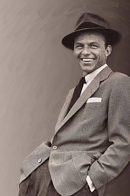 Digital Art - Frank Sinatra 3 by Frank Sinatra