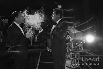 Frank Sinatra Photograph - Frank Sinatra And Dean Martin On A Tv Set by The Titanic Project