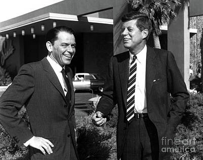 Photograph - Frank Sinatra And President Kennedy by Doc Braham
