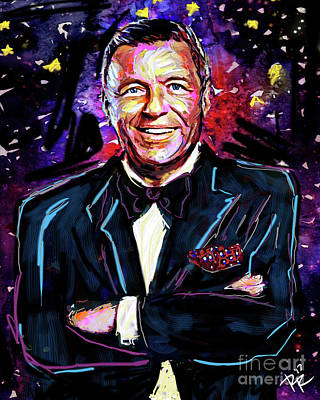 Frank Sinatra Mixed Media - Frank Sinatra Art by Ryan Rock Artist
