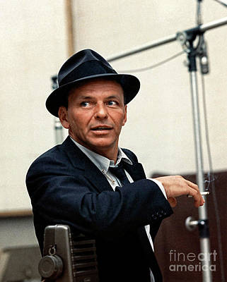 Photograph - Frank Sinatra At Capitol Records, 1953 by Doc Braham