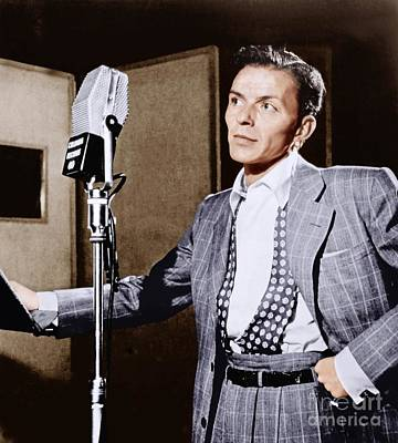 Frank Sinatra Photograph - Frank Sinatra At Columbia Studios, 1948. by The Titanic Project
