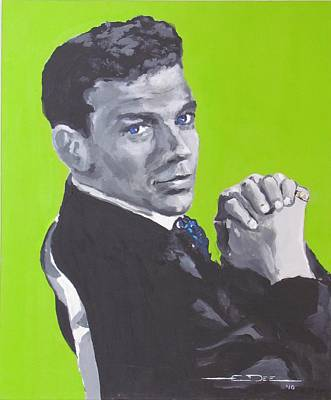 Frank Sinatra Drawing - Frank Sinatra Blue by Eric Dee