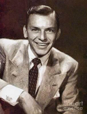 Classic Portrait Drawing - Frank Sinatra By Mary Bassett by Mary Bassett