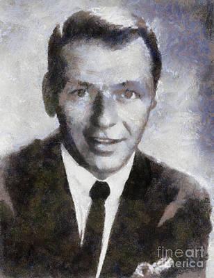 Frank Sinatra Painting - Frank Sinatra By Sarah Kirk by Sarah Kirk