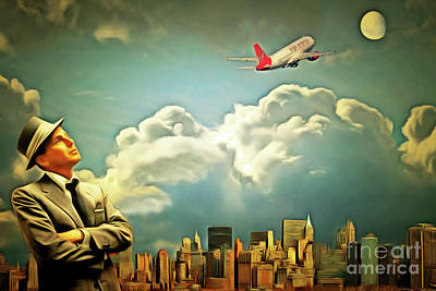 Frank Sinatra Fly Me To The Moon 20170506 Art Print by Wingsdomain Art and Photography