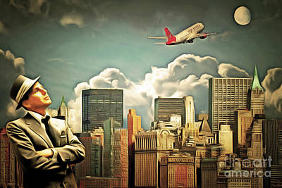 Photograph - Frank Sinatra Fly Me To The Moon New York 20170506 V3 by Wingsdomain Art and Photography