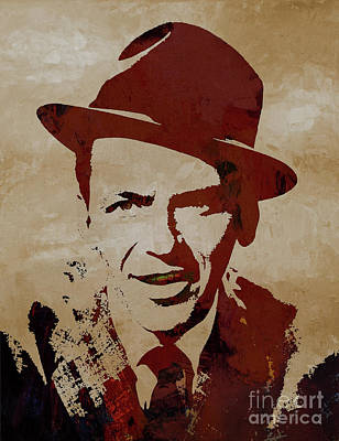 Painting - Frank Sinatra  by Gull G