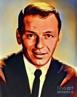 Frank Sinatra Digital Art - Frank Sinatra, Hollywood Legend. Digital Art By Mb by Mary Bassett