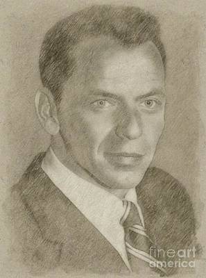 Star Trek Drawing - Frank Sinatra Hollywood Singer And Actor by Frank Falcon