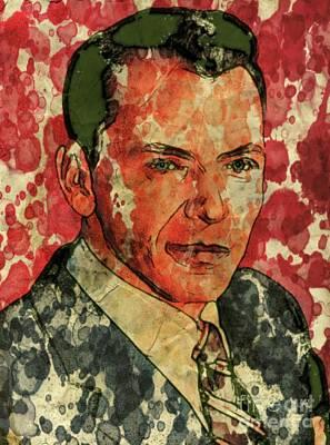 Film Noir Digital Art - Frank Sinatra Hollywood Singer And Actor by Mary Bassett