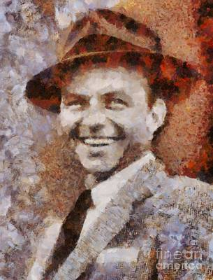 Frank Sinatra Hollywood Singer And Actor Art Print