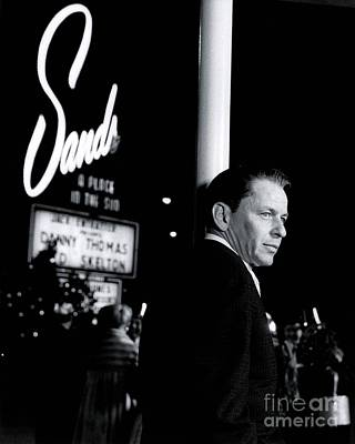 Frank Sinatra Photograph - Frank Sinatra In Las Vegas Filming Ocean's 11. by The Titanic Project