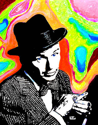 Ratpack Painting - Frank Sinatra by John Leclerc